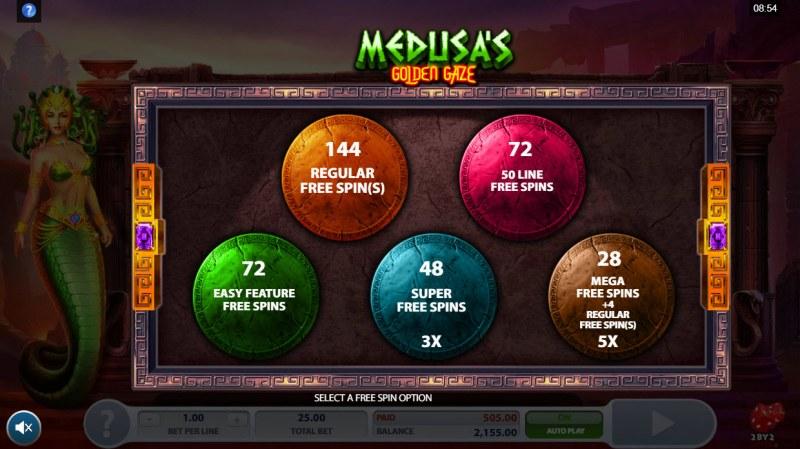 Medusa's Golden Gaze :: Pick your free games feature