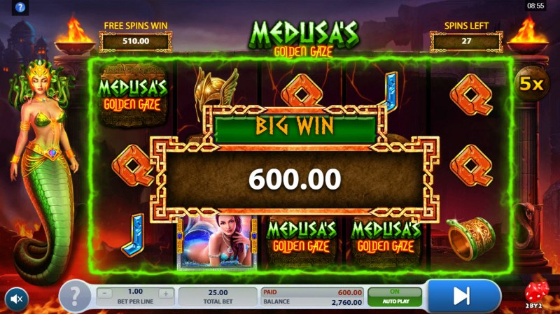 Medusa's Golden Gaze :: Big Win