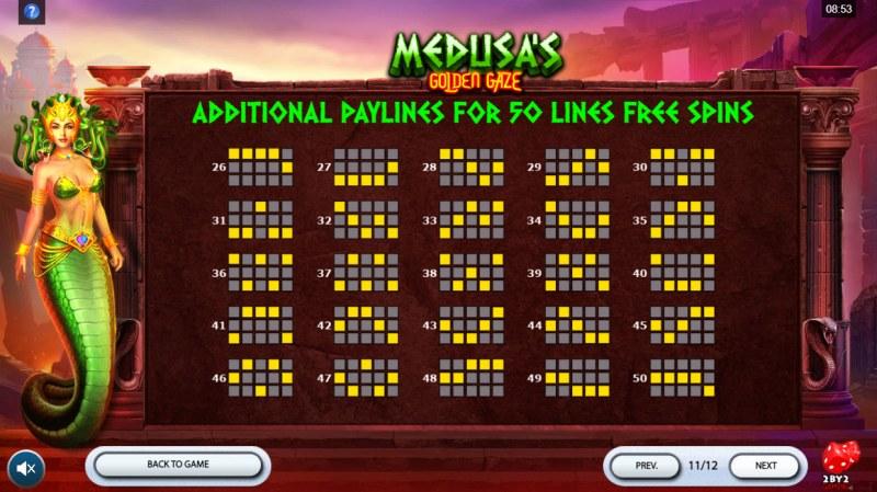 Medusa's Golden Gaze :: Paylines 1-50