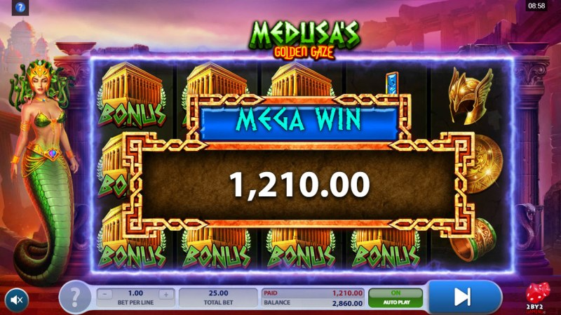 Medusa's Golden Gaze :: Total Free Spins Payout
