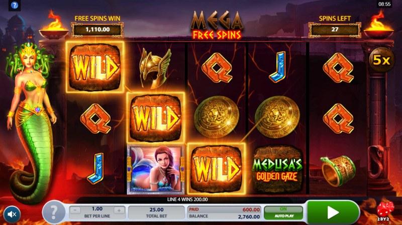 Medusa's Golden Gaze :: A four of a kind win