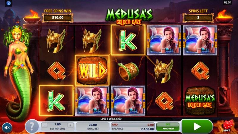 Medusa's Golden Gaze :: Free Spins Game Board