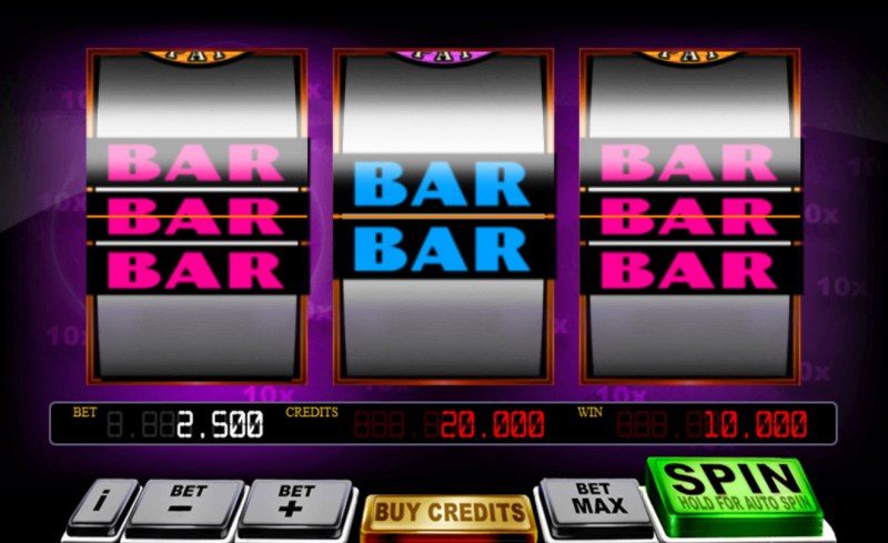 Mega 10x Pay :: Winning BAR combination