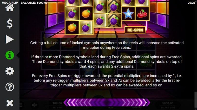 Mega Flip :: Free Spins Rules