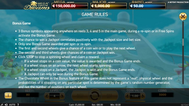 Mega Fortune Dreams :: Bonus Game Rules