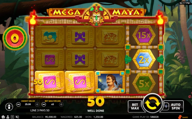 Mega Maya :: A three of a kind win