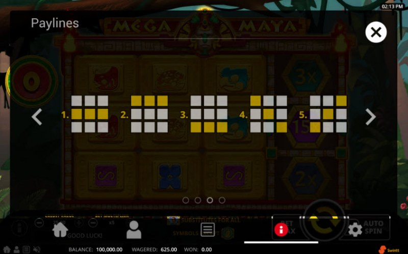 Mega Maya :: Paylines 1-5