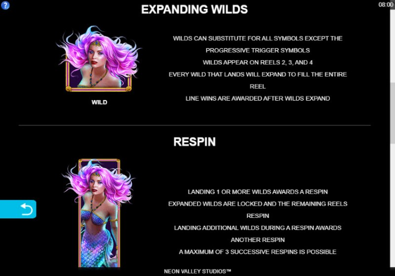 Mega Moolah Atlantean Treasures :: Wild Symbols Rules