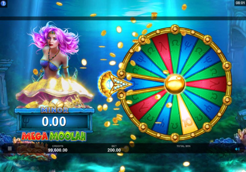 Mega Moolah Atlantean Treasures :: Spin the wheel for a chance to win big