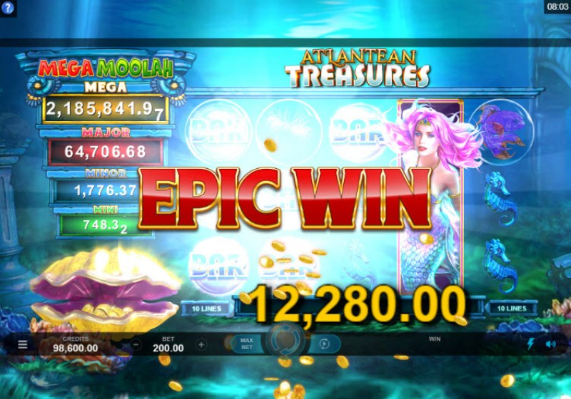 Mega Moolah Atlantean Treasures :: Epic Win