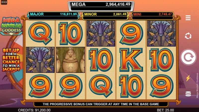 Mega Moolah Goddess :: Main Game Board