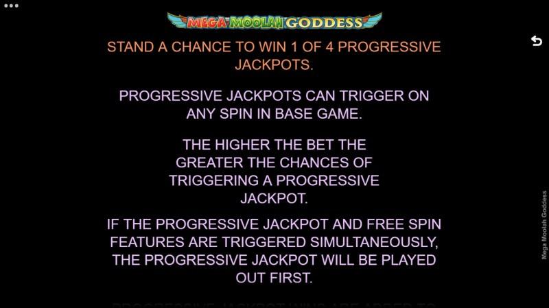 Mega Moolah Goddess :: Jackpot Rules
