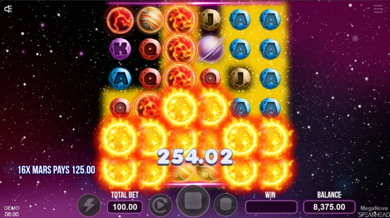 Mega Nova :: Multiple winning combinations lead to a big win
