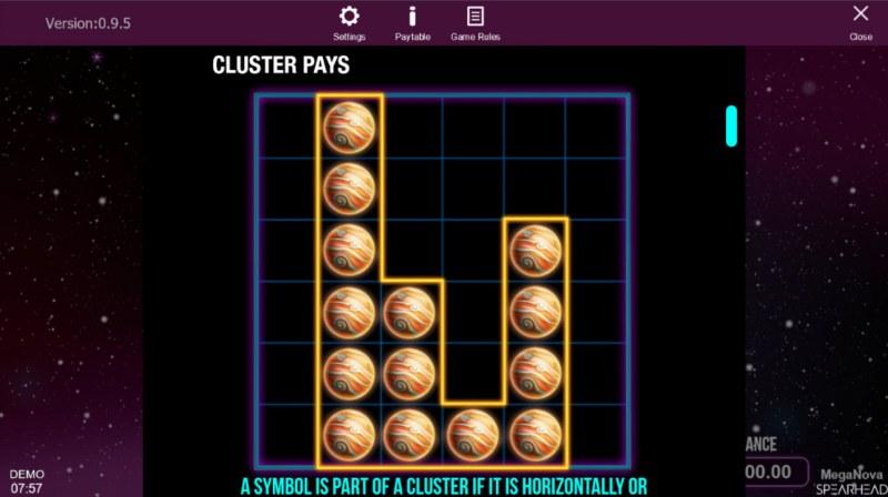 Mega Nova :: Cluster Wins