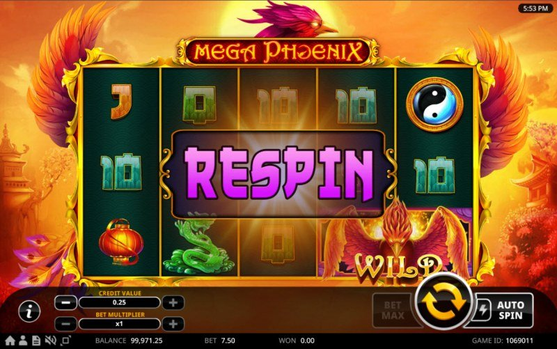 Mega Phoenix :: Respin activated