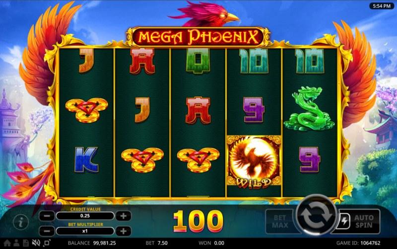 Mega Phoenix :: A four of a kind win