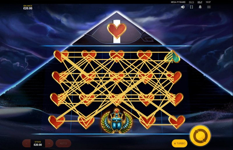 Mega Pyramid :: Multiple winning paylines