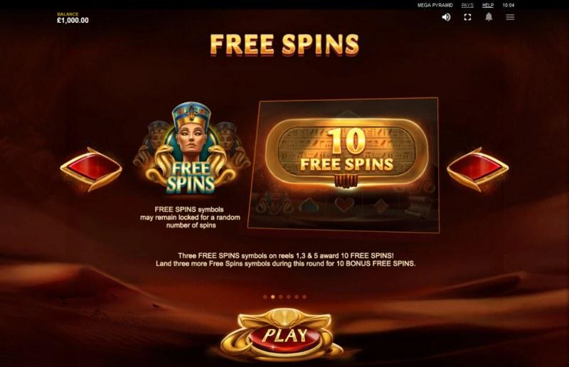 Mega Pyramid :: Free Spins Rules