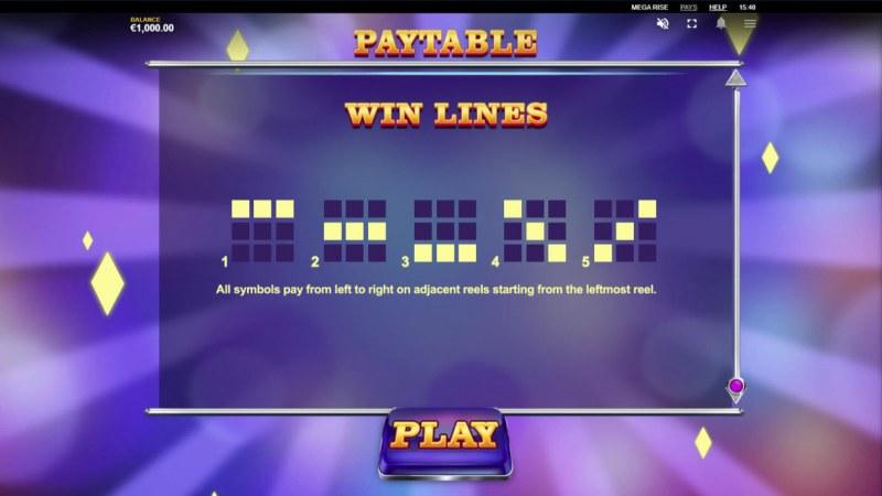 Mega Rise :: Paylines 1-5