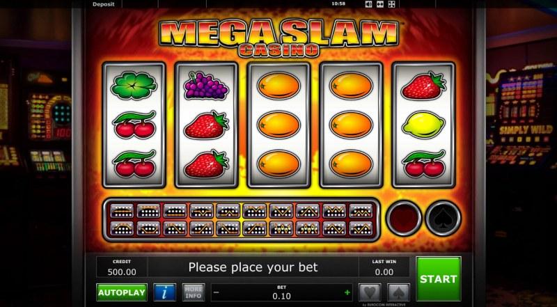Mega Slam Casino :: Main Game Board
