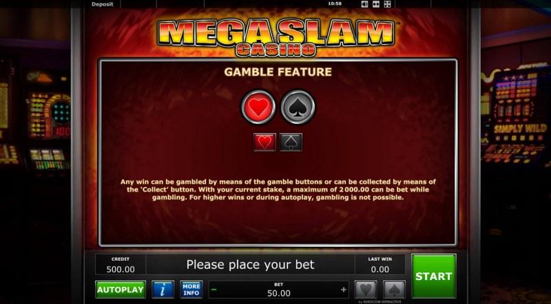 Mega Slam Casino :: Gamble feature