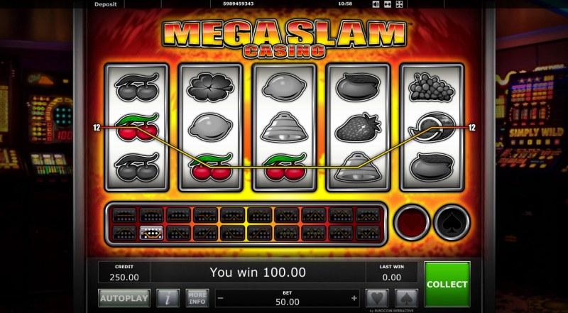 Mega Slam Casino :: A three of a kind win