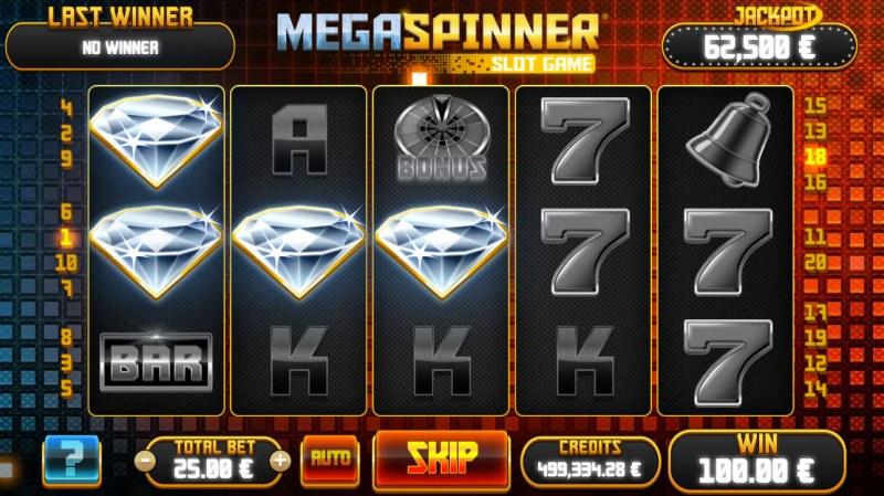 Mega Spinner :: Three of a kind