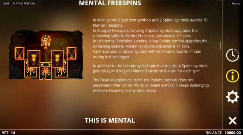 Mental :: Mental Free Spins