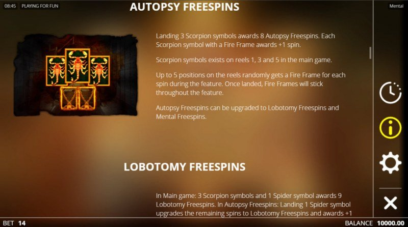 Mental :: Autopsy Free Spins
