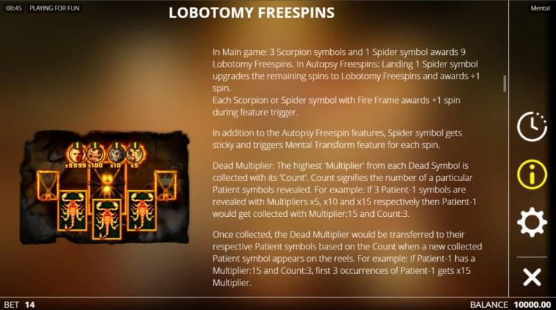 Mental :: Lobotomy Free Spins