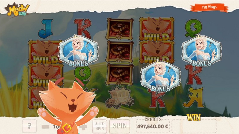 Meow in the Boots :: Scatter symbols triggers the free spins feature