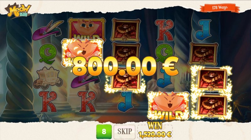 Meow in the Boots :: Game pays in both directions