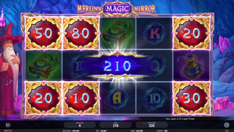 Merlin's Magic Mirror :: Mystery symbols can award a cash prize