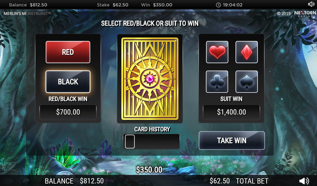 Play slots at Chomp: Chomp featuring the Video Slots Merlin's Money Burst with a maximum payout of $90,000
