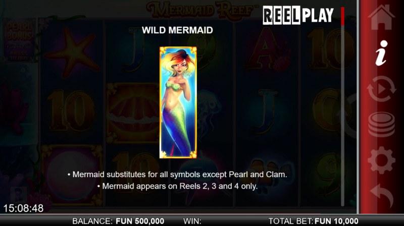 Mermaid Reef :: Wild Symbol Rules