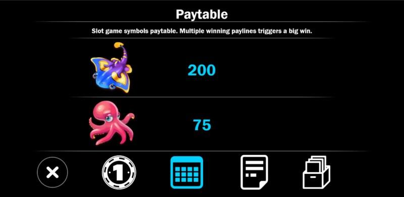 Mermaid Treasure :: Paytable - High Value Symbols