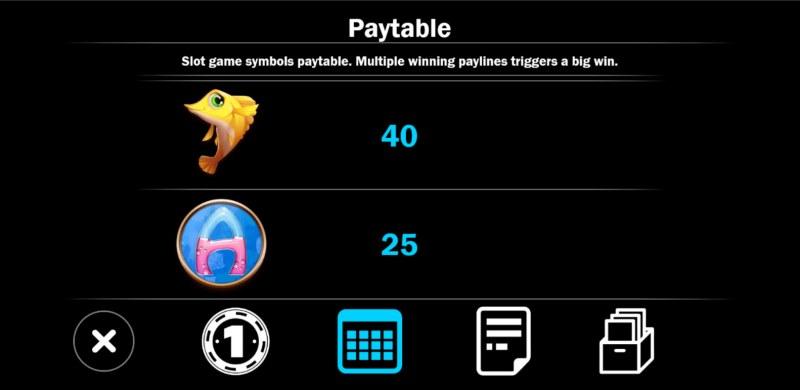 Mermaid Treasure :: Paytable - Medium Value Symbols