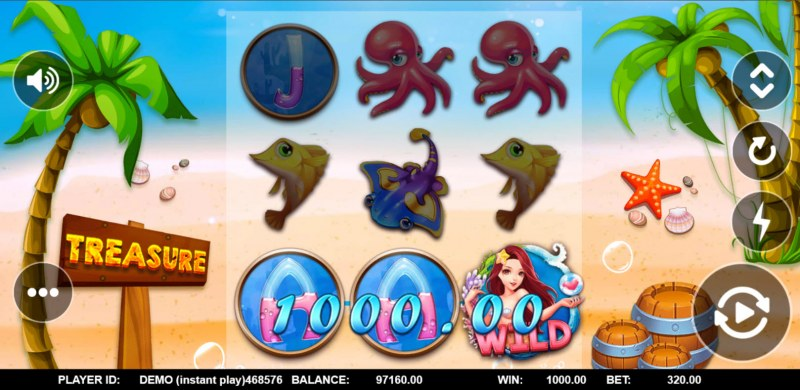 Mermaid Treasure :: A three of a kind win