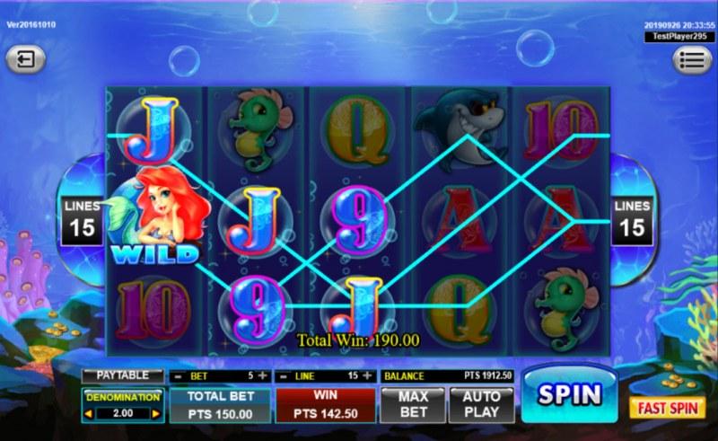 Mermaid :: Multiple winning paylines