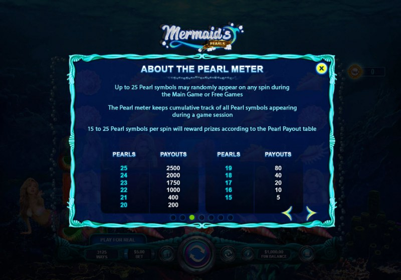 Mermaid's Pearls :: Free Spin Feature Rules