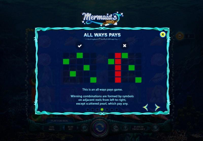 Mermaid's Pearls :: 3125 Ways to Win