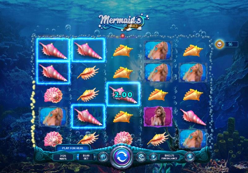 Mermaid's Pearls :: Multiple winning combinations