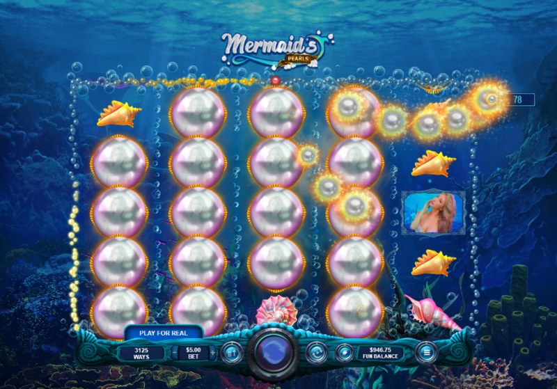 Mermaid's Pearls :: Collect pearls to earn bonus and free games