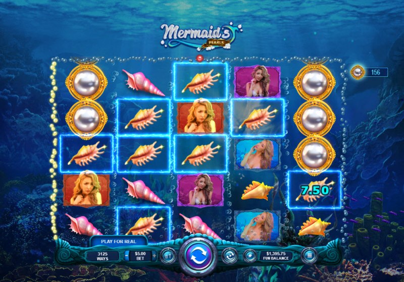 Mermaid's Pearls :: A five of a kind win