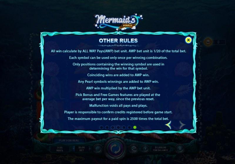 Mermaid's Pearls :: General Game Rules