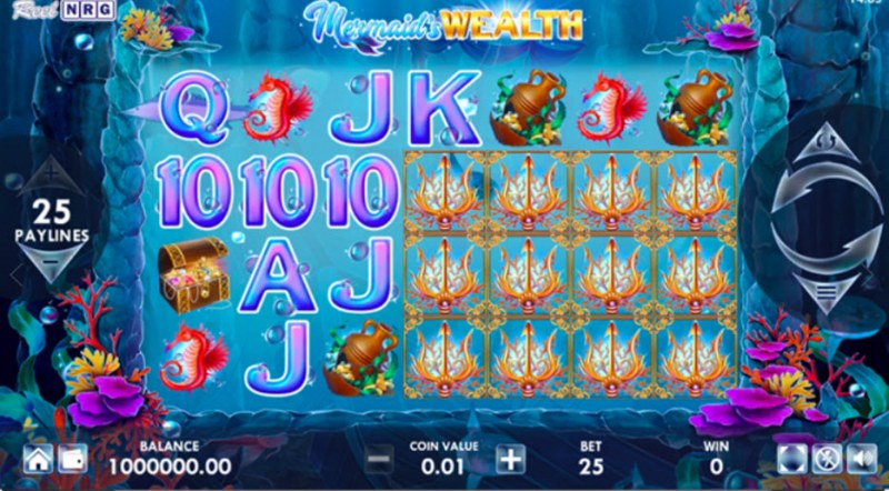 Mermaid's Wealth :: Scatter symbols triggers the free spins feature