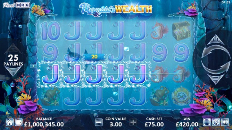 Mermaid's Wealth :: Multiple winning paylines