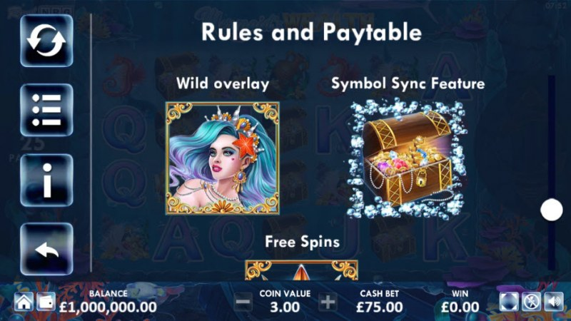 Mermaid's Wealth :: Wild Symbols Rules