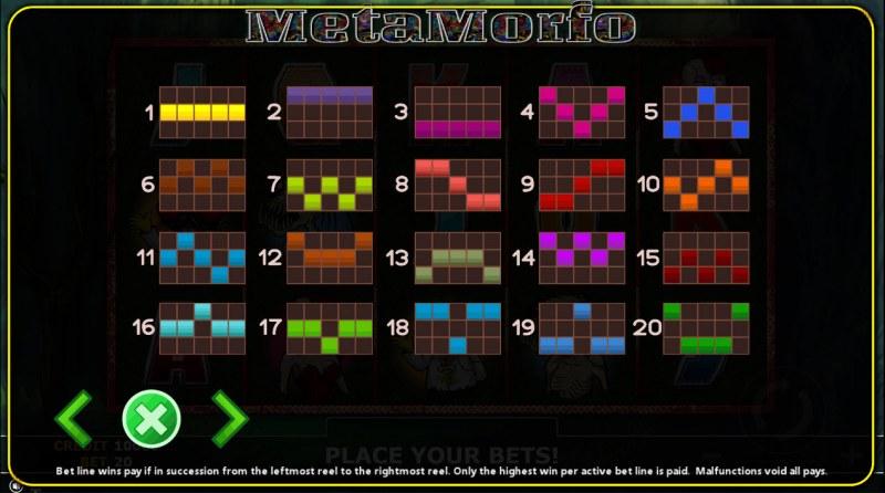 Metamorfo :: Paylines 1-20