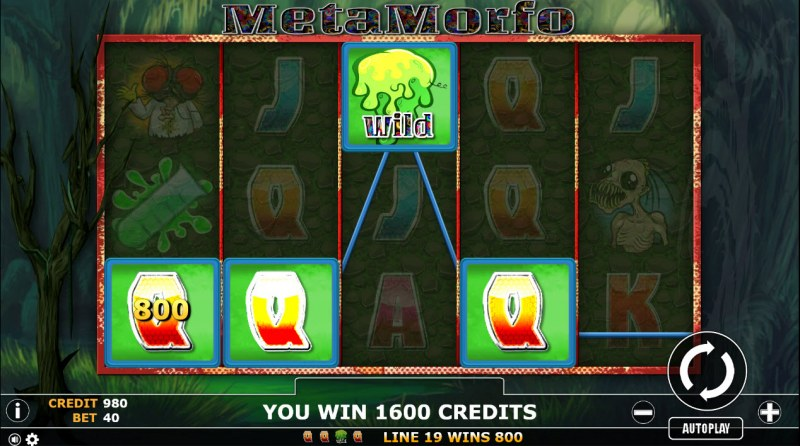 Metamorfo :: Multiple winning paylines